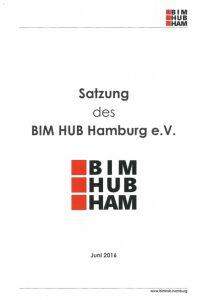 Deckblatt Satzung BIM HUB Hamburg Stand Juni 2016