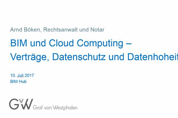 Veranstaltung: BIM und Cloud Computing