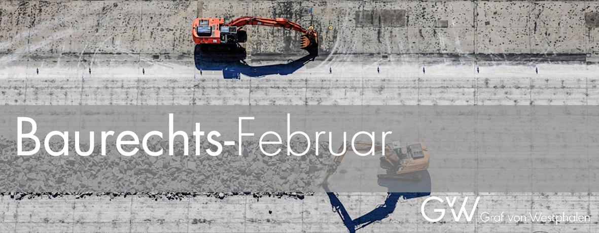 Veranstaltungsreihe Baurechts-Februar